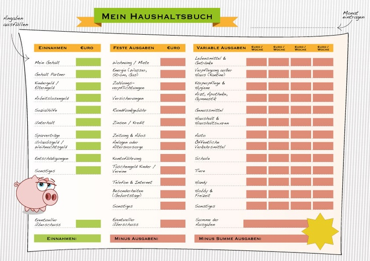 Haushaltsbuch - Revival der kleinen Managers. #Geld sparen und Finanzen überblicken..