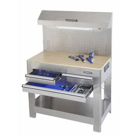 Kobalt�Stainless Steel Heavy Duty Work Bench.  This would be great as a bbq station on the deck