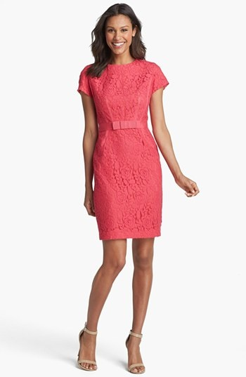 Taylor Dresses Cap Sleeve Lace Dress available at #Nordstrom