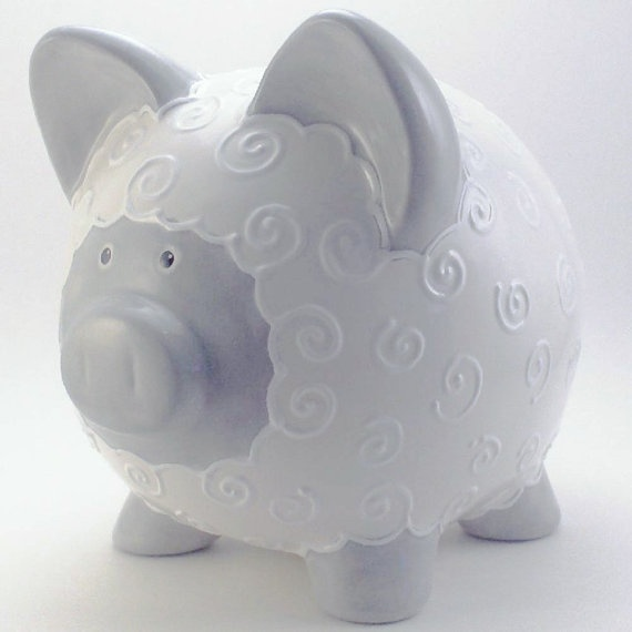 Piggy Lamb Bank - Wild About Animals week