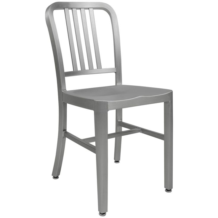 The Alton chair is constructed of an aluminum frame three-times stronger than steel with a diamond hard anodized finish. Its timeless design making it functional and stylish in commercial spaces and restaurants, or the modern home.