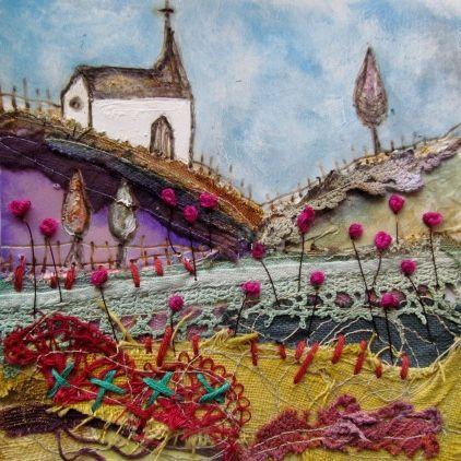 'Church meadow' by Louise O'Hara of DrawntoStitch www.drawntostitch.com
