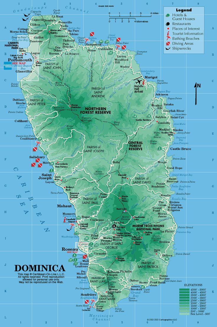 Dominica Map Travel Dominica