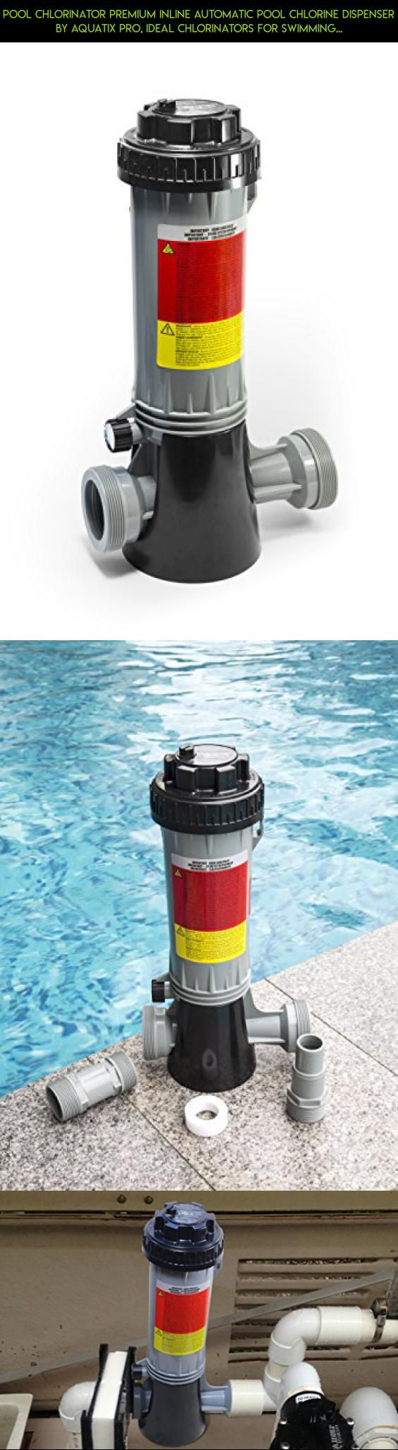 Pool Chlorinator Premium inline Automatic Pool Chlorine Dispenser by Aquatix Pro, Ideal Chlorinators for Swimming Pools, Hot Tubs & Spas, Heavy Duty Bromine Feeder with Mounting Base #pool #drone #fpv #kit #camera #gadgets #hot #plans #products #racing #tubs #shopping #swimming #technology #tech #parts