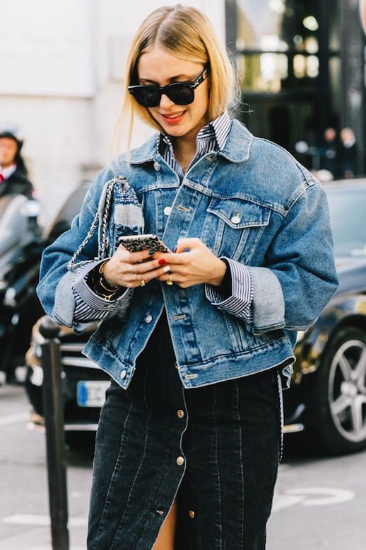 Pernille Teisbaek in denim, plus the most stylish sales to shop now.
