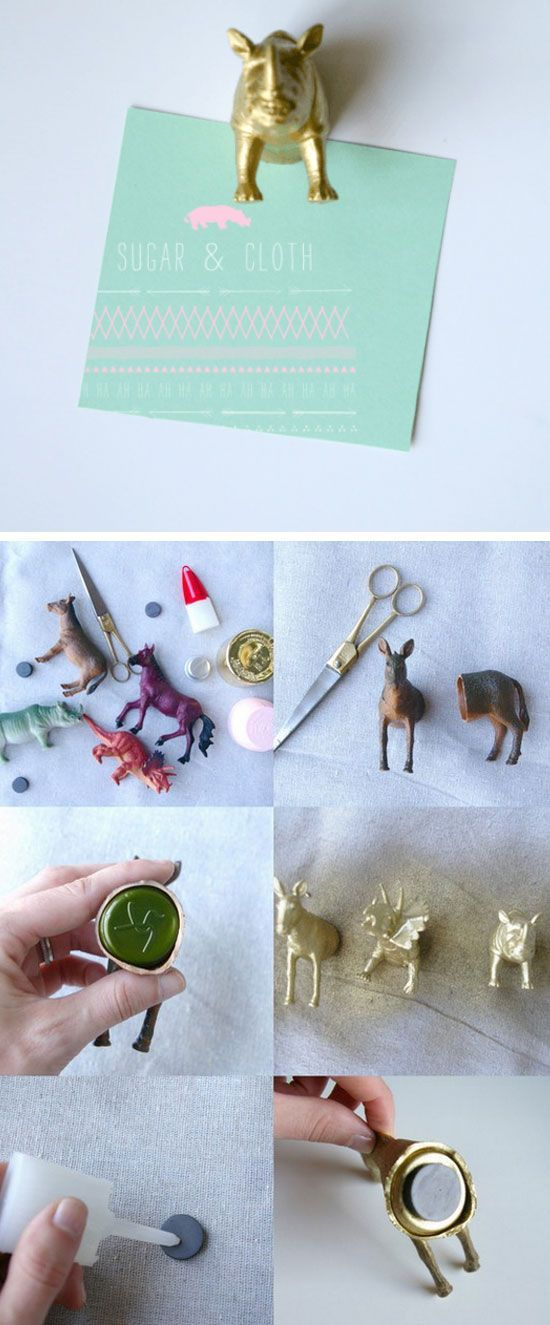 Party Animal Magnets | Click Pic for 20 Dollar Store Crafts for Home Decor Ideas for Cheap | DIY Home Decor Hacks Tips and Tricks