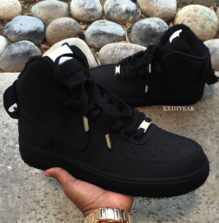 new arrival 3672c e506e Nike Air Force 1 Black   Shoes - ALL in 2019   Shoes, Sneakers, Nike shoes
