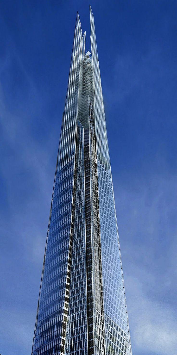 tour shard Tour Shard à Londres : le plus haut gratte ciel dEurope par Renzo Piano