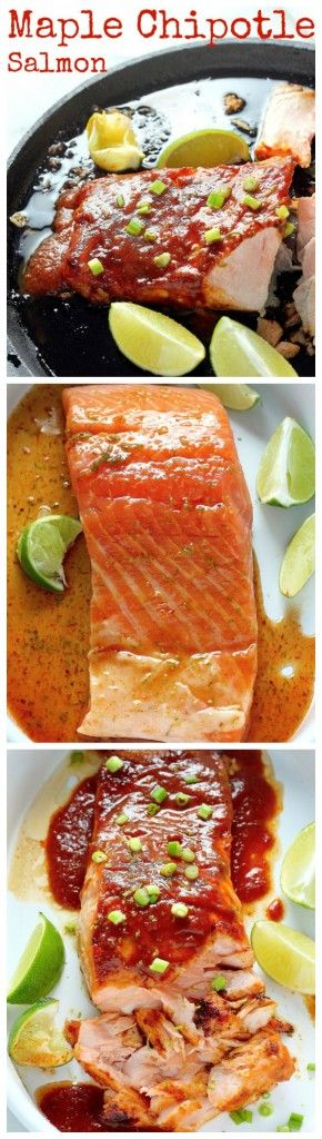 20 Minute Baked Salmon with Maple Chipotle Sauce