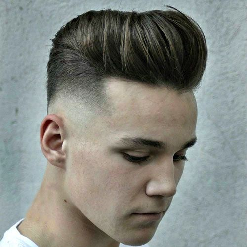 Best Short Haircuts For Men - Modern Pompadour + Mid Fade