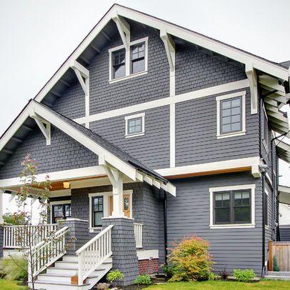Ferguson residence similar paint colors benjamin moore wolf gray 2127 40 benjamine moore - Exterior blue paint set ...
