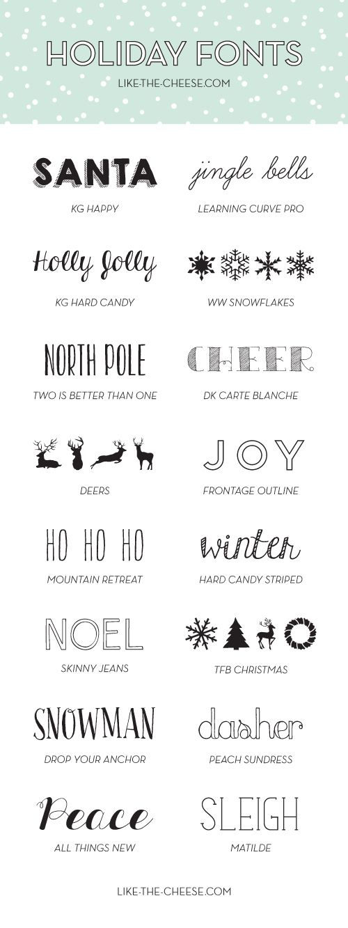 ≡ 16 Free and Fabulous Holiday Fonts