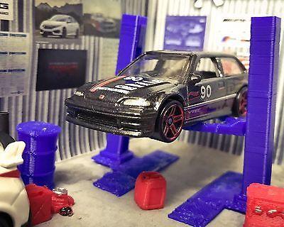 Honda Civic EF9 Diecast Model Car Auto Lift Garage Accessory Diorama Set 1:64    eBay