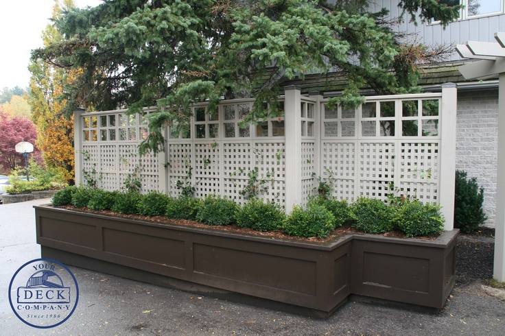 Your deck company created this unique planter and privacy for Privacy planters for decks