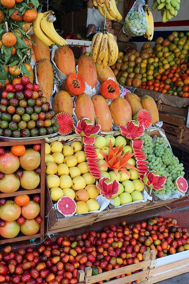 Puesto de frutas, Mercado de Valle de Bravo, Estado de México