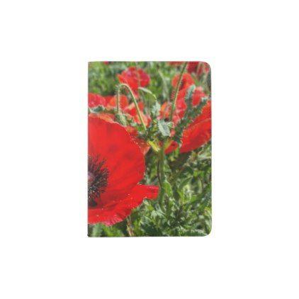 Flanders Poppy Passport Holder - accessories accessory gift idea stylish unique custom