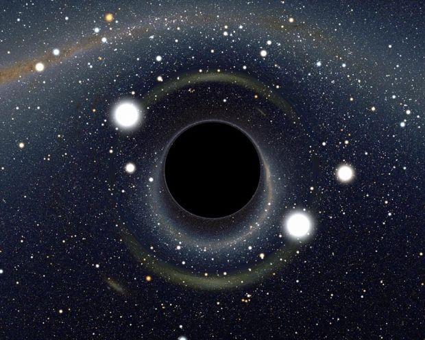 Simulace černé díry, Foto: