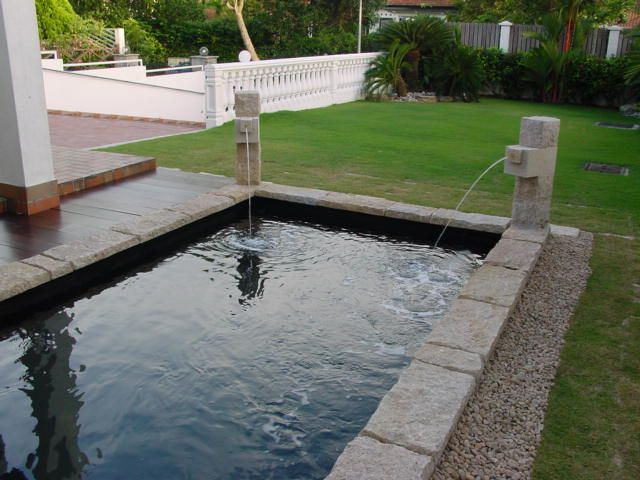 17 best images about pond ideas on pinterest ground for Rectangular koi pond
