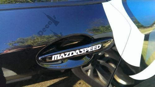 Mazda 3, 6, Protege Mazdaspeed Door Handle or Rim vinyl decal accessory 5-pack
