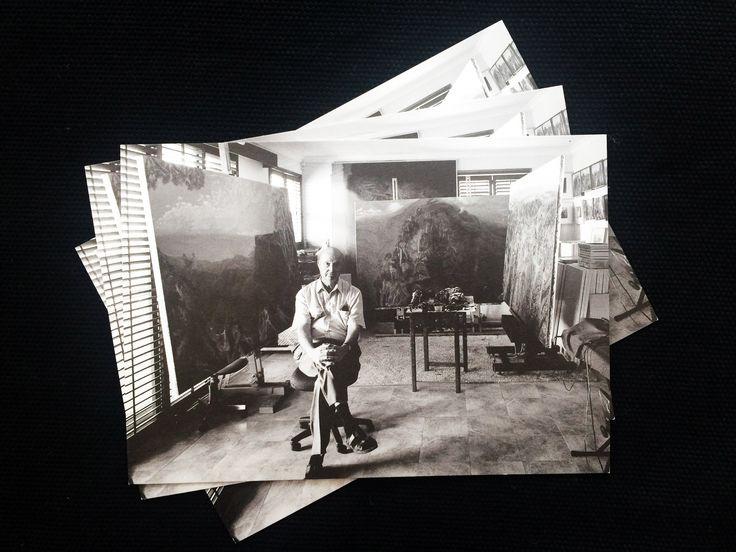 Postcard // William Robinson in his studio 2000 // Photograph by Richard Stringer