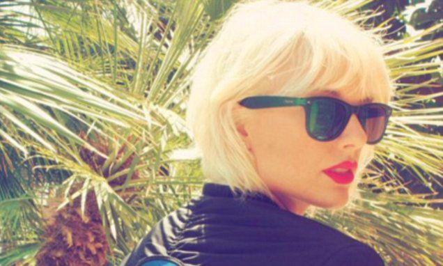 Taylor Swift shows off edgy new bleached blonde hair at Coachella