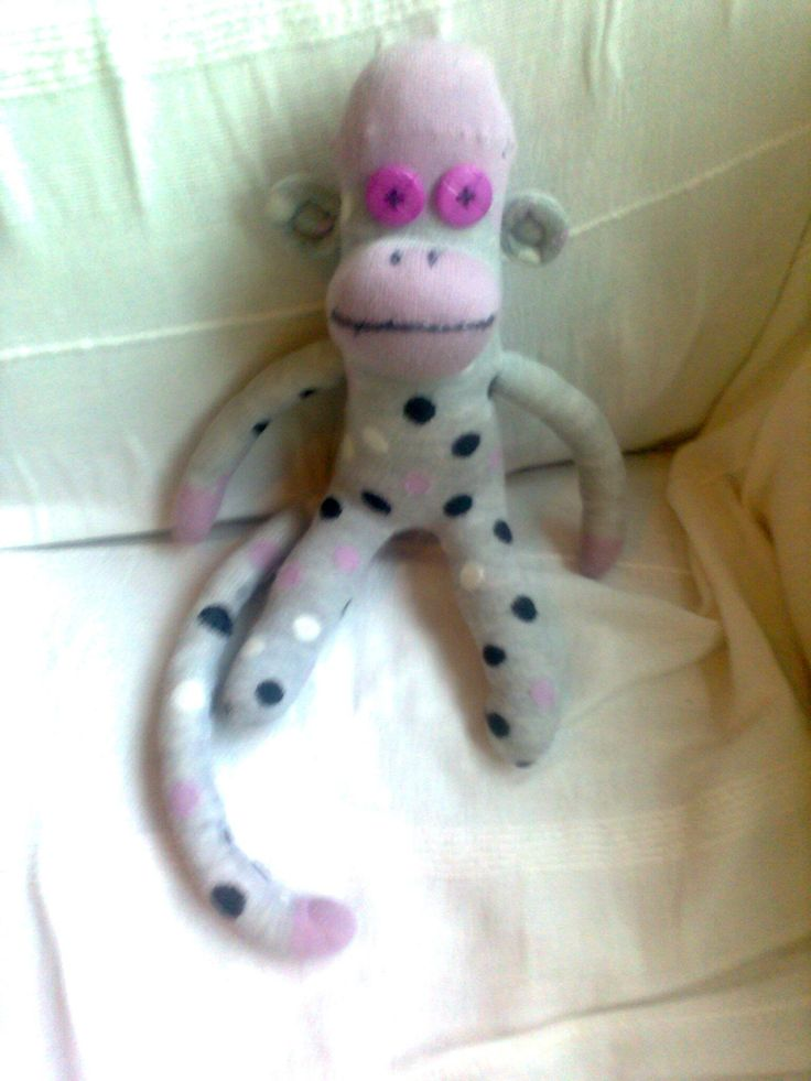 Funky Sock Monkey! Made April 2012