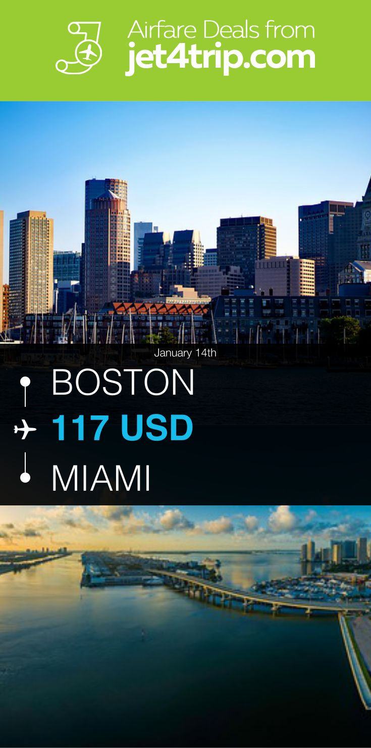 Flight from Boston to Miami for $117 by United Airlines #travel #ticket #deals #flight #BOS #MIA #Boston #Miami #UA #United Airlines