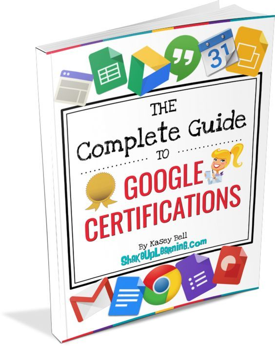 FREE E-Book! The Complete Guide to Google Certifications for Educators! This is your complete guide to all of the Google Certifications for Educators: Google Certified Educator, Level 1 & 2, Google Certified Trainer, Google Certified Administrator, and Google Certified Innovator. This guide will help answer all of your questions and clarify the differences between all of the certification options.