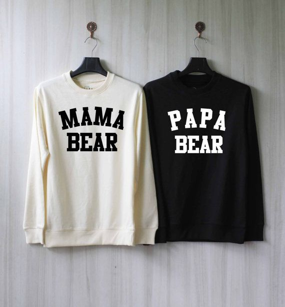 Papa Bear Mama Bear Sweatshirt Couples Shirts Sweater by SaBuy