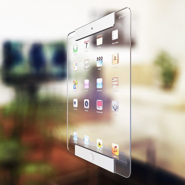 WooW Pix » Colorful Life Style » New iPad Concept – by Ricardo Afonso. Clear iPad, super lightweight and features all the same things as the original. Once your on internet, the screen turns opaque and you can no longer see through it. Go to the home/menu page and it becomes clear again.