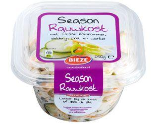 Season rauwkost is een heerlijke, frisse rauwkostsalade met o.a. prei, wortel, ui, komkommer en selderie in een frisse dressing.