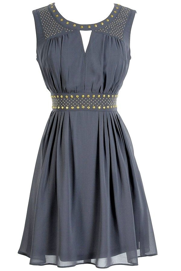 Grey studded chiffon dress ~~ I wish it wasnt gold tho. :(