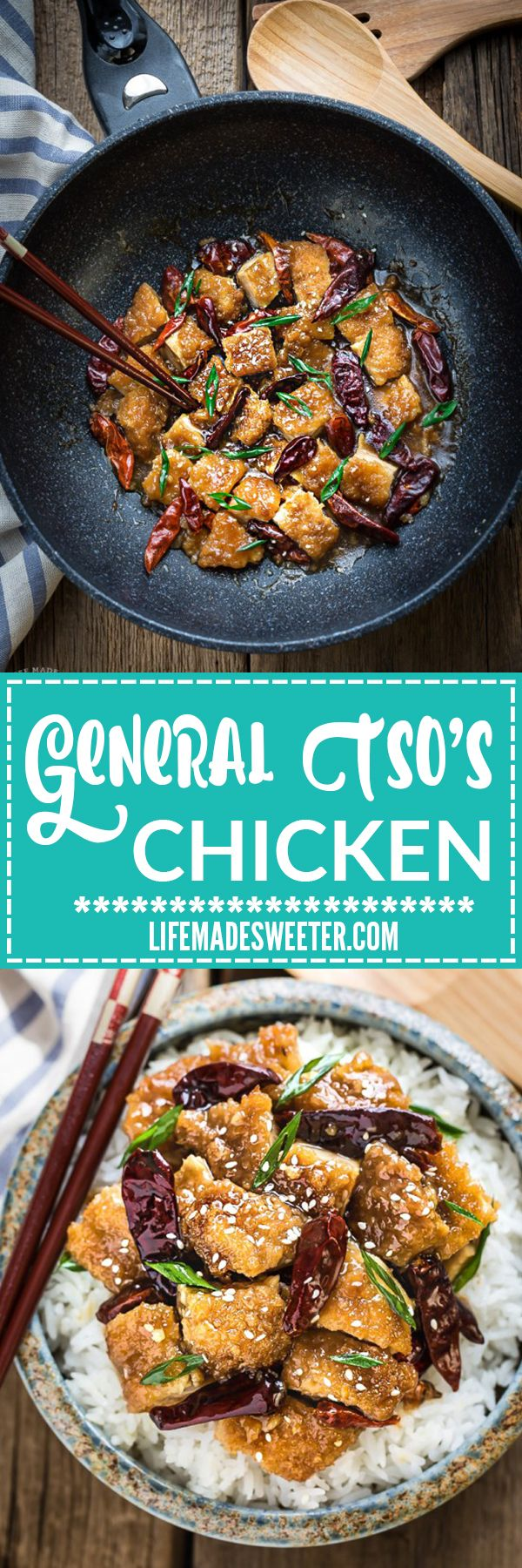 General Tso's Chicken is the perfect homemade dish to satisfy that Chinese takeout craving! Best of all, it's easy to make and so much better for you than the restaurant version! Weekly meal prep for the week and leftovers reheat beautifully and make great lunch bowls for work or school.