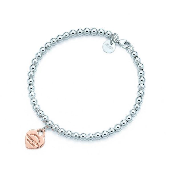 Return to Tiffany® Bead Bracelet ($225) via Polyvore featuring jewelry, bracelets, beaded jewelry, tiffany co jewelry, beading jewelry, beaded bangles and bead jewellery
