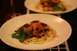 Sauteed Scallops with Angel Hair Pasta