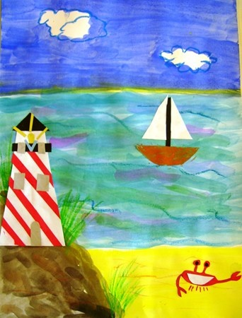 "From exhibit ""4 - Seascape with Lighthouse"" by Victoria2059"