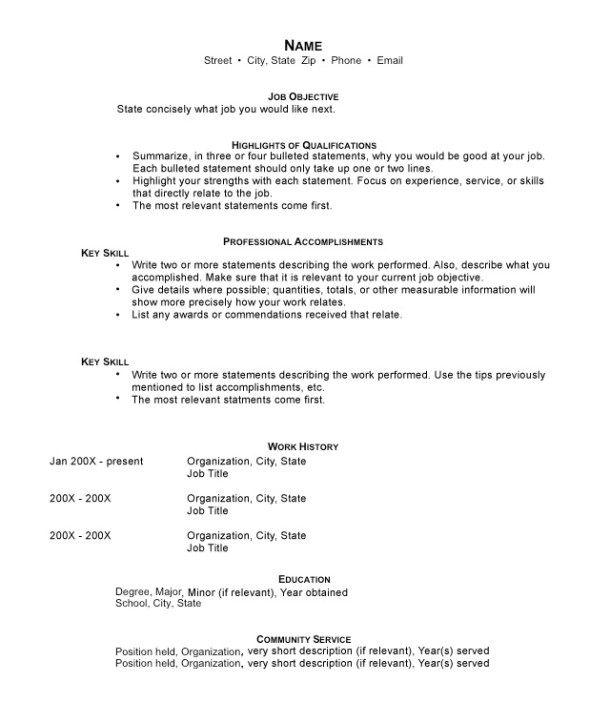hybrid resume