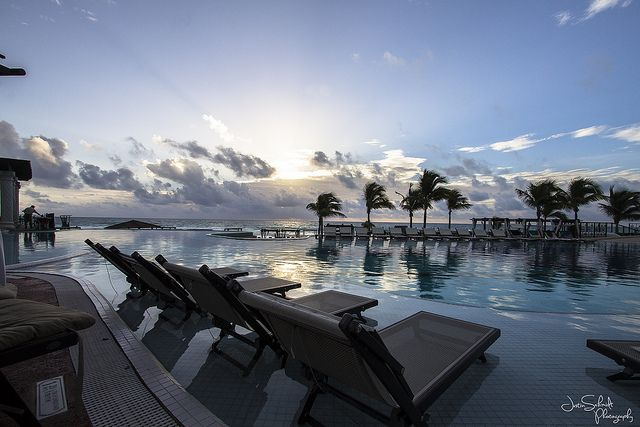 Main pool looking at infinity edge, Hyatt Zilara Cancun by Schmidt Photography