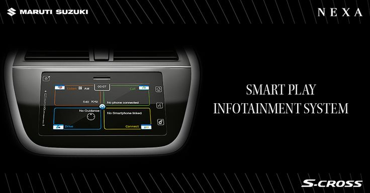 Adding a new dimension in car infotainment, the smart play infotainment system keeps you entertained on the go. ‪#‎SCross‬