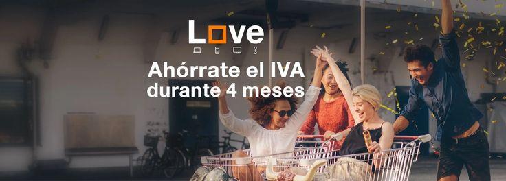 Ahórrate el IVA durante 4 meses de tu tarifa Love en nuestras tiendas Orange www.digitalwap.es ¡Aprovéchate ahora! #allyouneedislove
