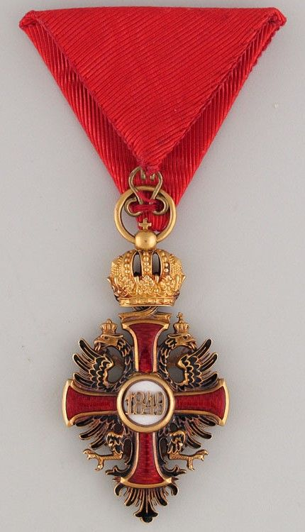 Franz Joseph Order, Knight's Cross breast badge, 31 x56.7mm, c. 1900, Vinc Mayer's Sohne, Vienna. 01