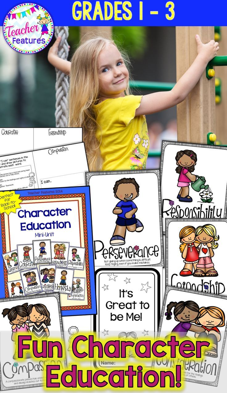 *Character Education Booklet and Posters* Perfect for grades 1-3 classrooms! Use for Back to School and throughout the year. Focus on one trait each week or use the traits that match up with your school's character education program. #CharacterEducation #ClassroomManagement #TeacherFeatures #1stGrade  #FirstGrade #2ndGrade #SecondGrade