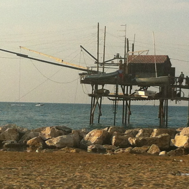 Trabucco fishing in Termoli,Campobasso,  Italy.: this is my beautiful town