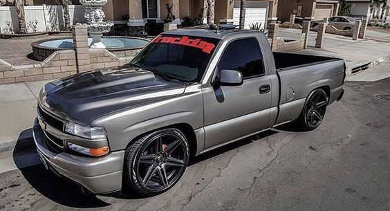 Truck for sale 2002 chevy silverado 5.3 engine runs strong truck has never been abused in anyway no leaks no problems clean title truck has been repainted its on a 3/5 drop with C-Notch & HD conversion with custom hood/z71 Valance & soft touch sunroof & brand new rims and tires interior is 9-10 hit up @1_sik_hd