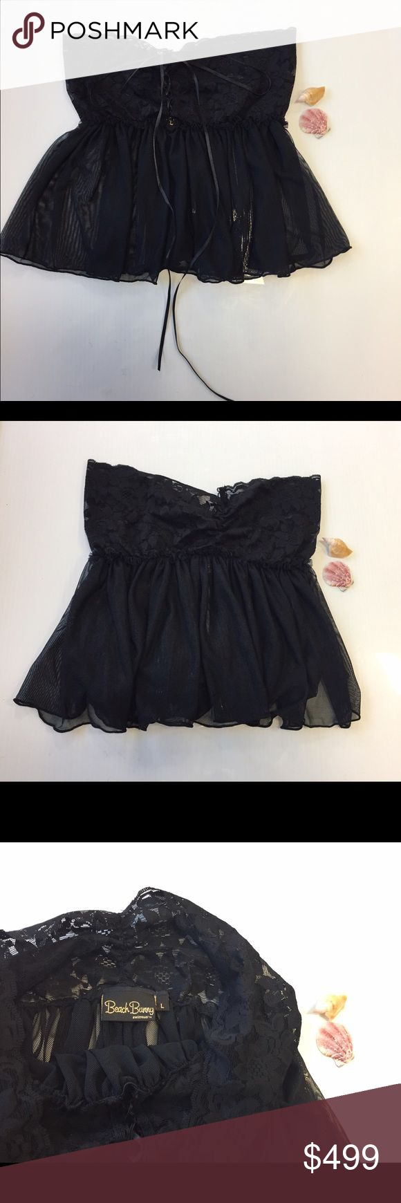 Beach bunny black lace skirt size large RARE NEW Beach bunny black lace skirt size large RARE NEW without tags Beach Bunny Swim Coverups