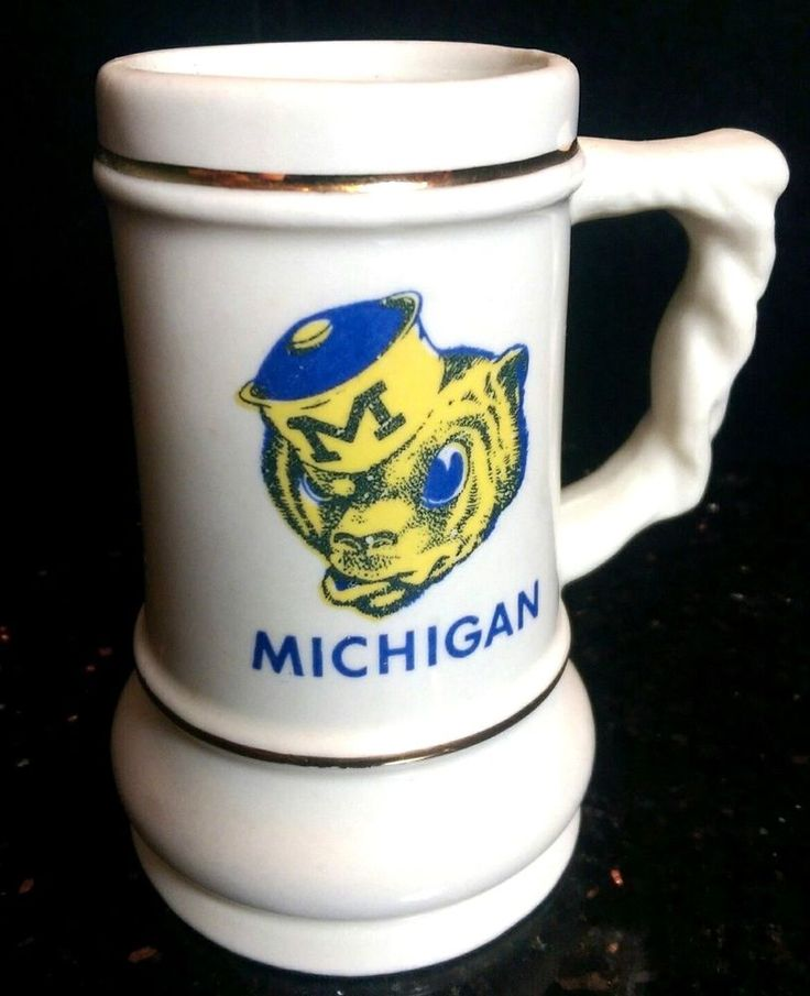Vintage University of Michigan old Wolverine Mascot Small Mug Stein collegiate #BillsSpecofMilwaukee #UniversityofMichiganWolverines