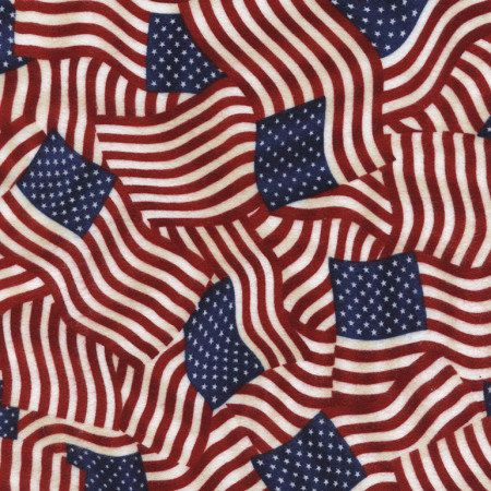 Flannel Flag Fabric, Old Glory, Flag Fabric, Red, Timeless Treasures, USA CF2850, Patriotic Fabric, American Flag, 01051A