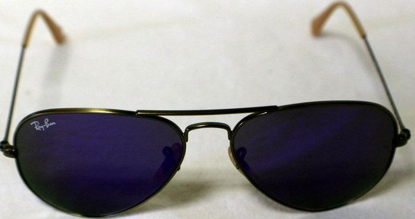 Ray-Ban - Sunglasses (RB3025) Brushed Bronze Frame With Grey Purple Lens