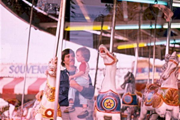 Darcy and Tyler on carousel