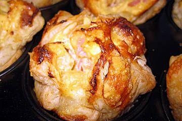 Blätterteig - Schinken - Muffins